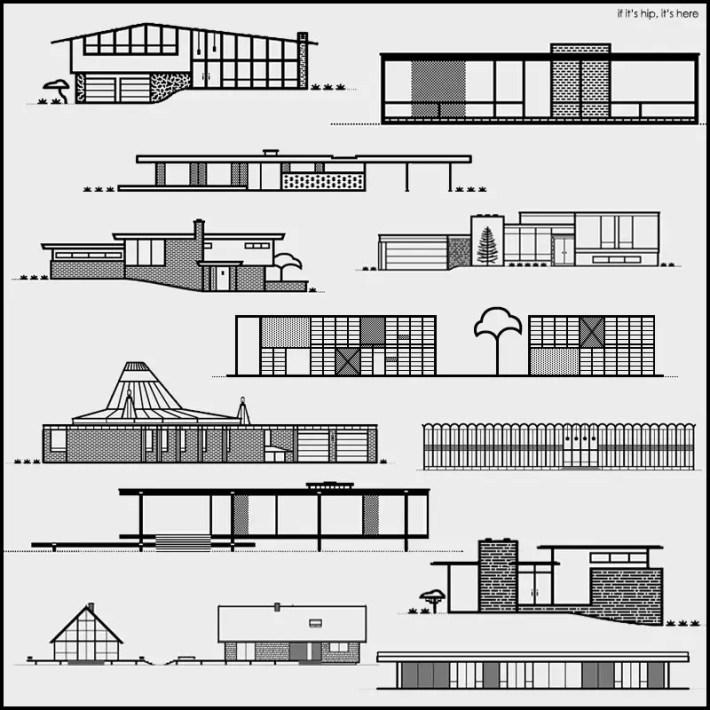 Michael Nykamp Mid century Modern Home Illustrations