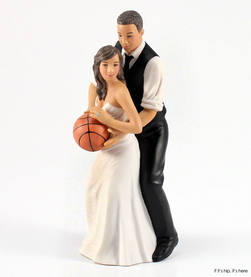 Bride and Groom Playing Basketball Cake Topper Because there s nothing like  playing H O R S E at your wedding reception 35 of the most WTF Wedding Cake Toppers you can buy. Novelty Wedding Cake Toppers. Home Design Ideas