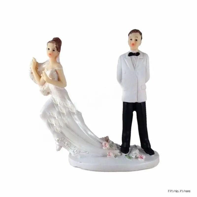Bride Running Away Cake Topper