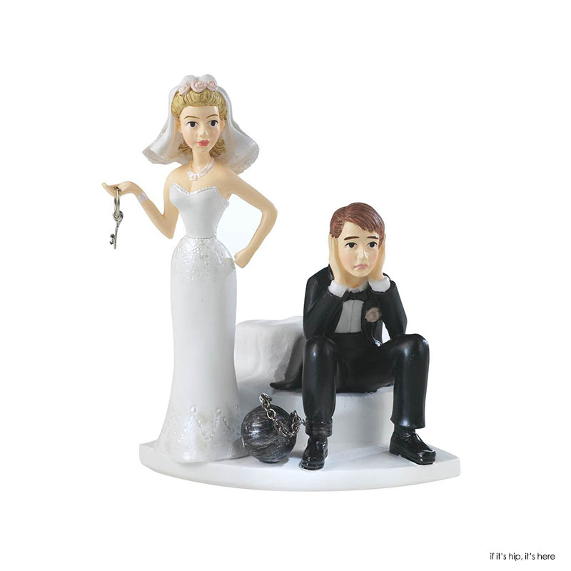 Reluctant Groom Cake Topper African American