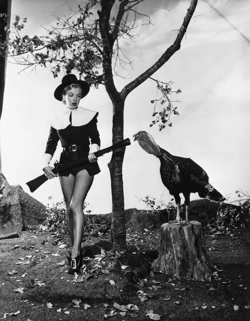 Vintage Hollywood Thanksgiving PinUps