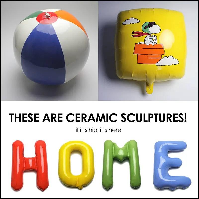 ceramic beach balls and balloons