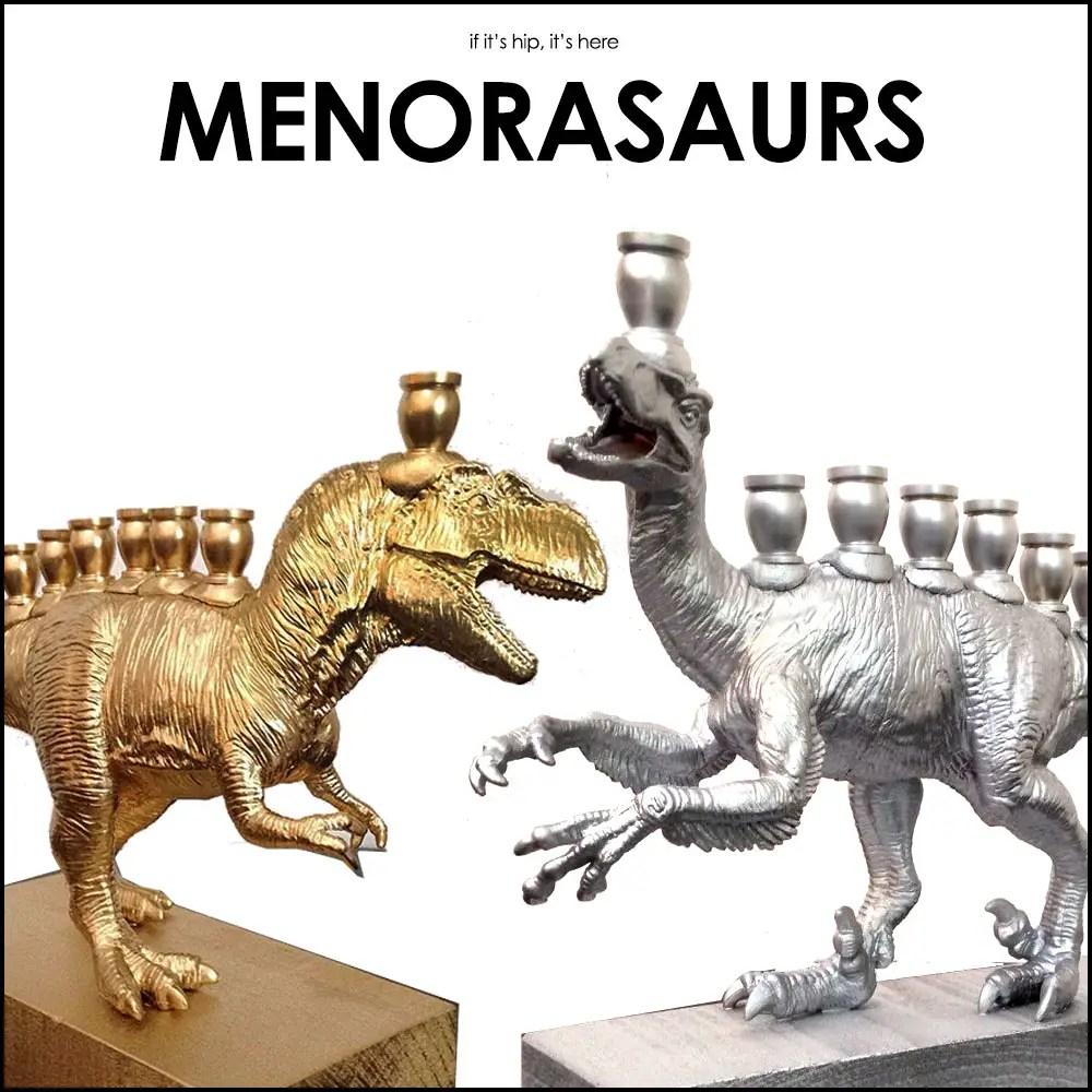 Dinosaur Menorahs