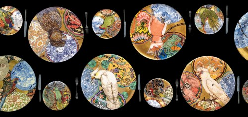 Read more about the article Ceramicist Stephen Bowers Serves Up Parrots on Plates With His Camouflage Series