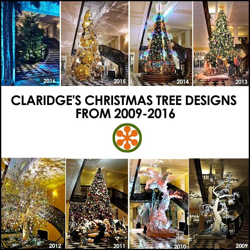 Claridge's Christmas Tree Designs 2009-2016