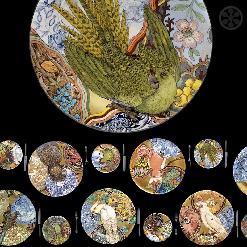 stephen bowers camouflage bird plates