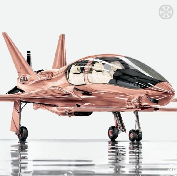 Santa, Bring Me A Rose Gold Coated Private Plane For