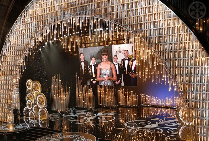U.S. first lady Michelle Obama announces the winner of the best picture Oscar, 2013