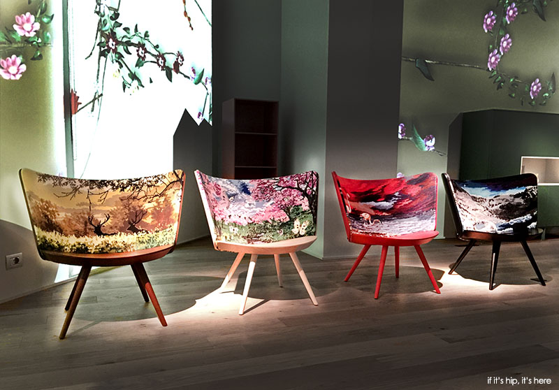 Four Seasons Embroidery Chairs & Johan Lindsténu0027s Four Seasons Embroidery Chairs