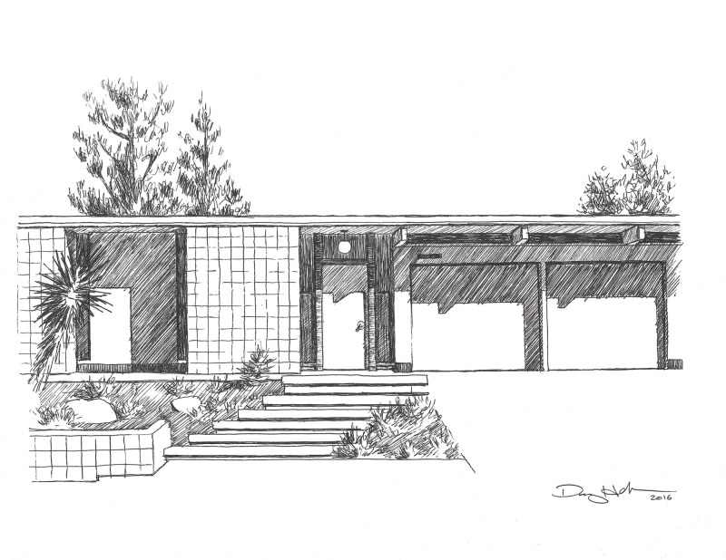 eichler house drawing