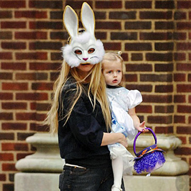 Gwyneth Paltrow as a bunny with daughter Apple