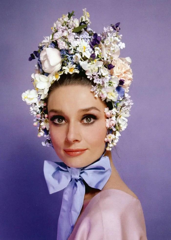 Audrey Hepburn in Easter Bonnet