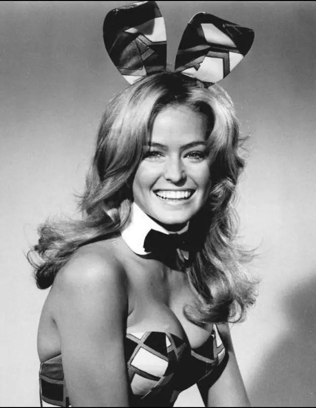 Farah Fawcett as a playboy bunny