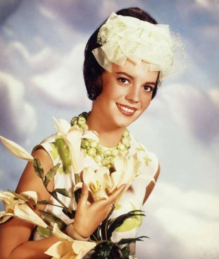 Natalie Wood with Easter Lillies