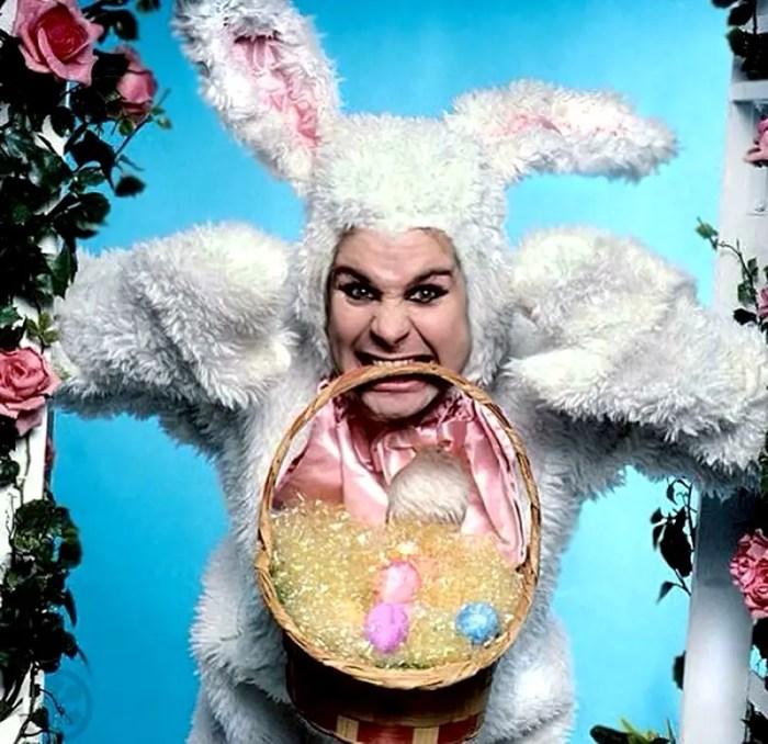 Ozzy Osbourne as an Easter bunny. photo: mark weiss