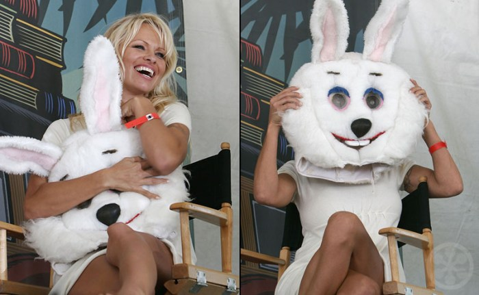 Pamela Anderson With Easter Bunny costume