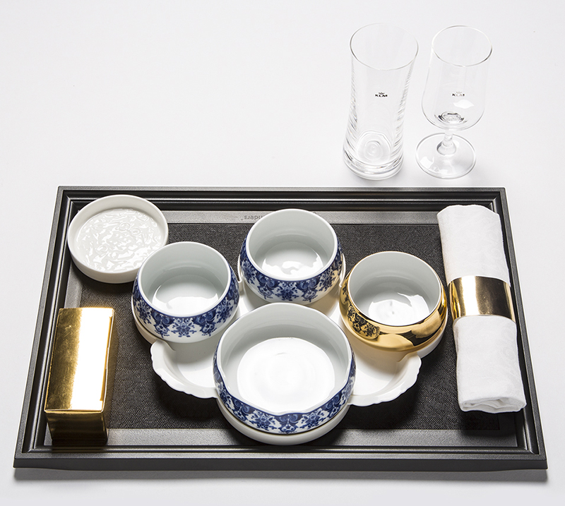 Indonesian tableware by Marcel Wanders for KLM World Business Class & Marcel Wanders Dining Service For KLM World Business Class