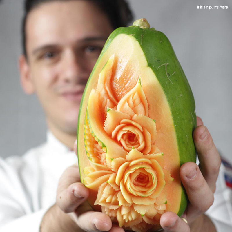 Daniele barresi food carvings from garlic to melons