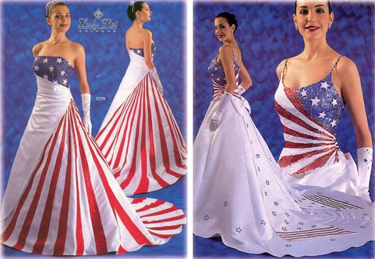 American Flag As Formal Wear
