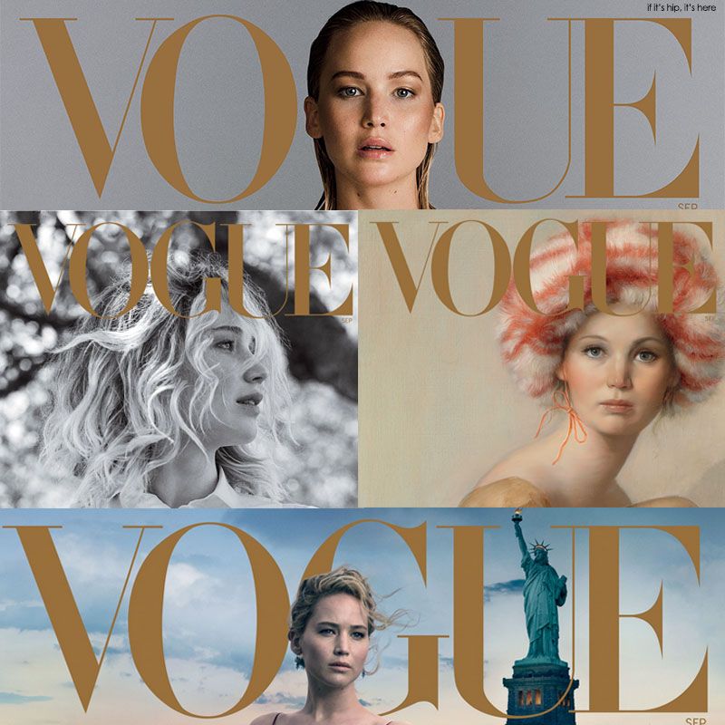 Jennifer Lawrence Vogue 125th Anniversary Covers