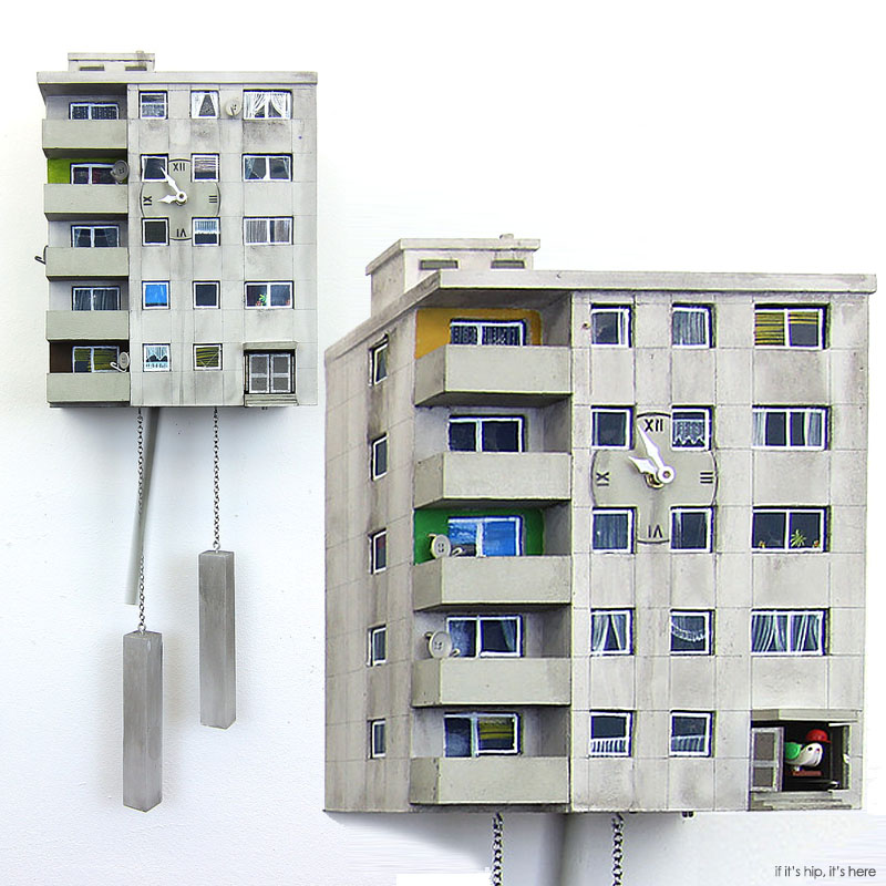 Urban Concrete Cuckoo Blocks by Guido Zimmermann