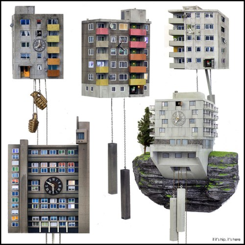 Read more about the article Urban Concrete Cuckoo Clocks and Brutalist Birdhouses.