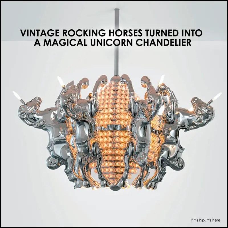 magical unicorn chandelier