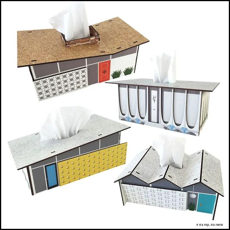 midcentury modern tissue boxes