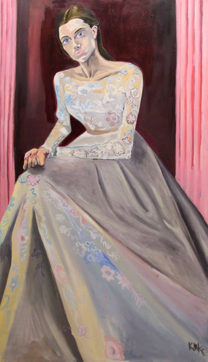 paintings of women in wedding gowns