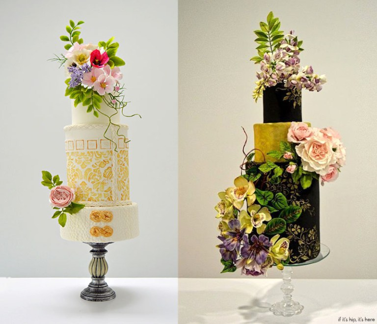 wedding cakes with sugar flowers