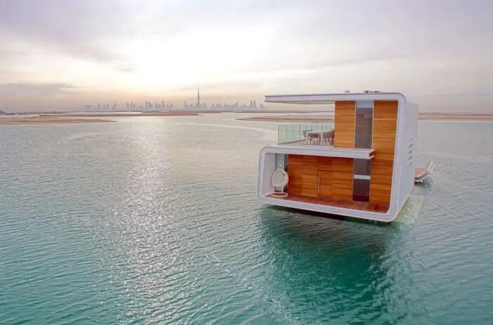 modern houseboat