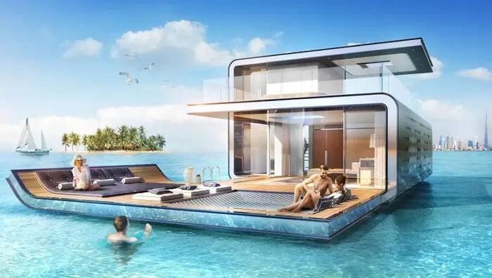 modern floating villas