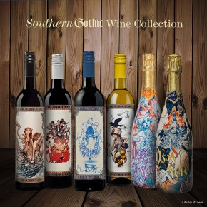 James Jean Designs Champagne Bottles for The Grateful Palate.