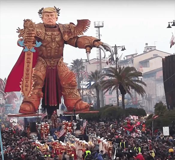Fabrizio Galli's Emperor Trump for Italy's Viareggio