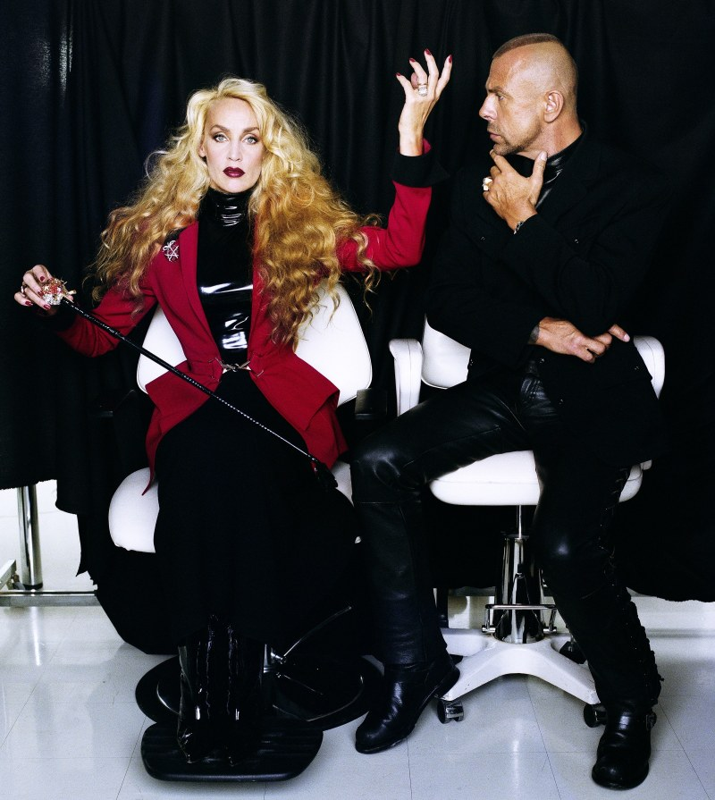 Jerry Hall and Thierry Mugler by Helmut Newton