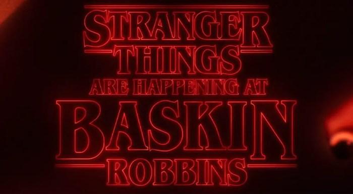 Baskin Robbins Stranger Things Scoops Ahoy