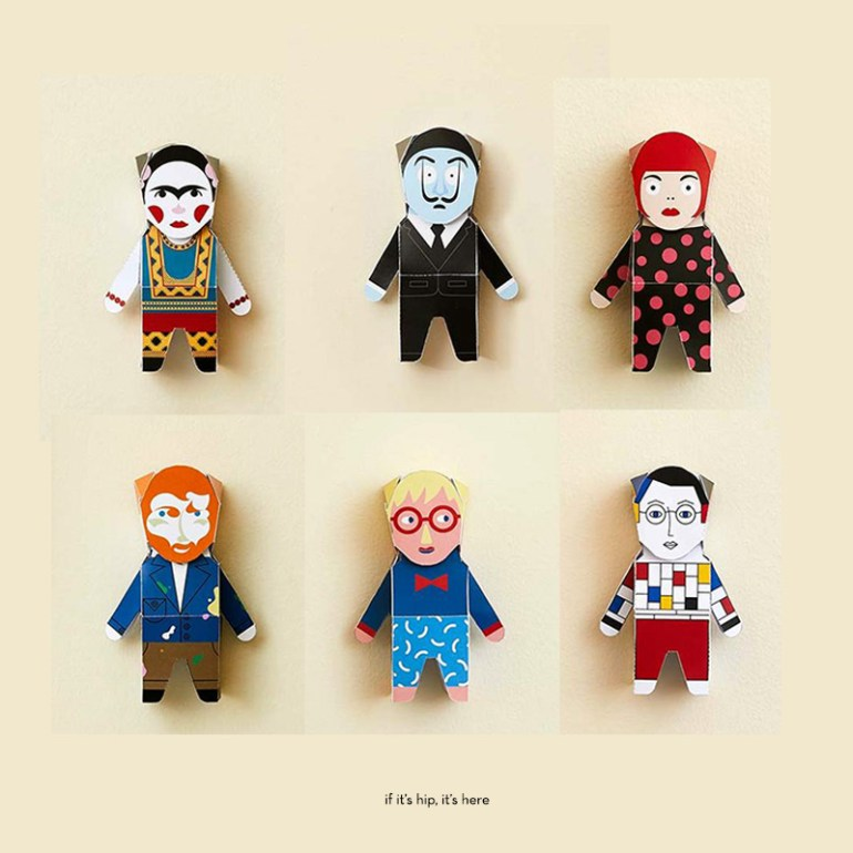 Chatty Feet Paper Character Models