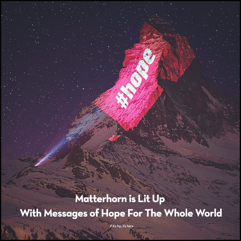 Matterhorn light projection