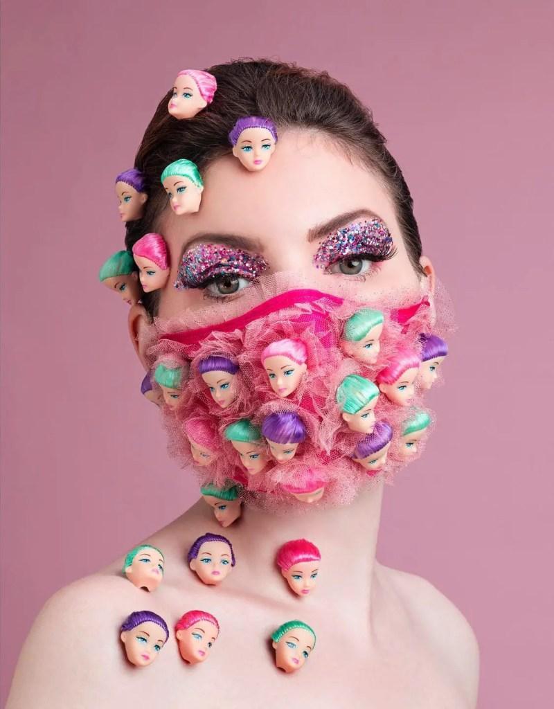 Barbie heads mask