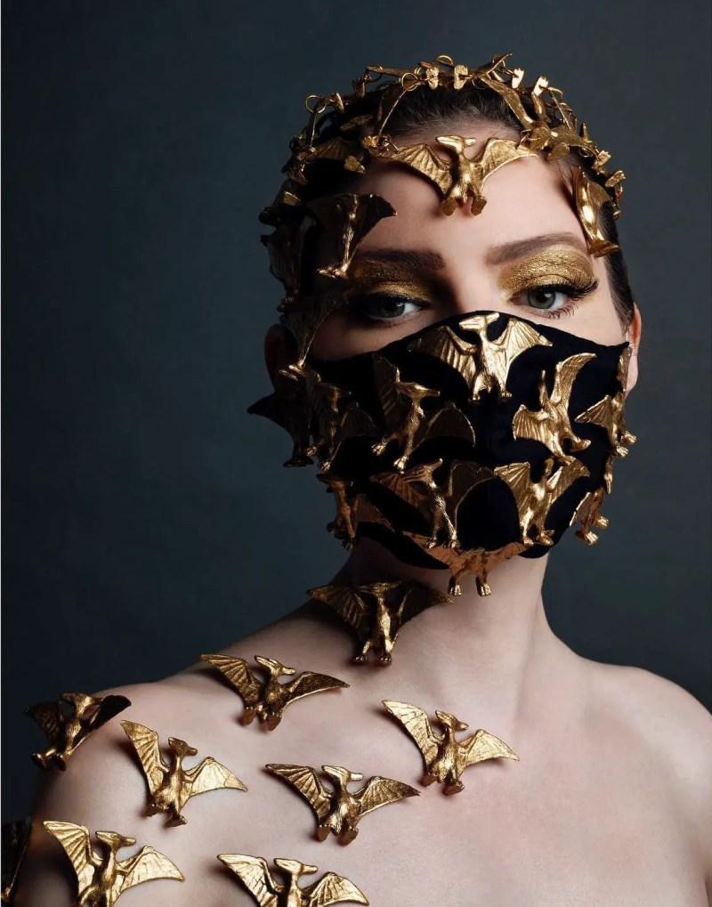 brass Pterydactyl mask