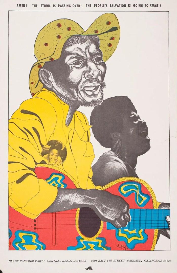 Aretha Franklin emory douglas poster