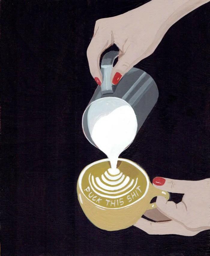 FTS painting Espresso foam
