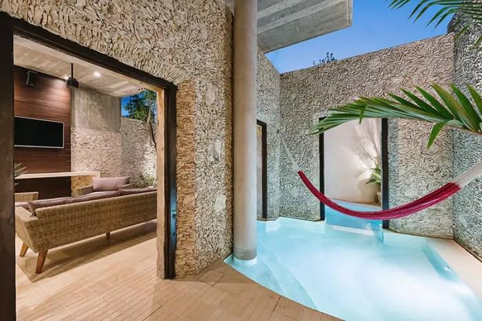 casa xolotl courtyard pool 10