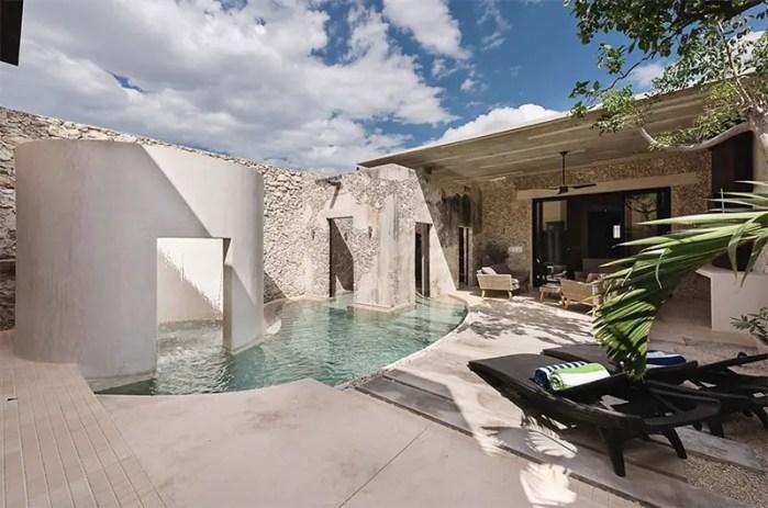 casa xolotl courtyard pool 2