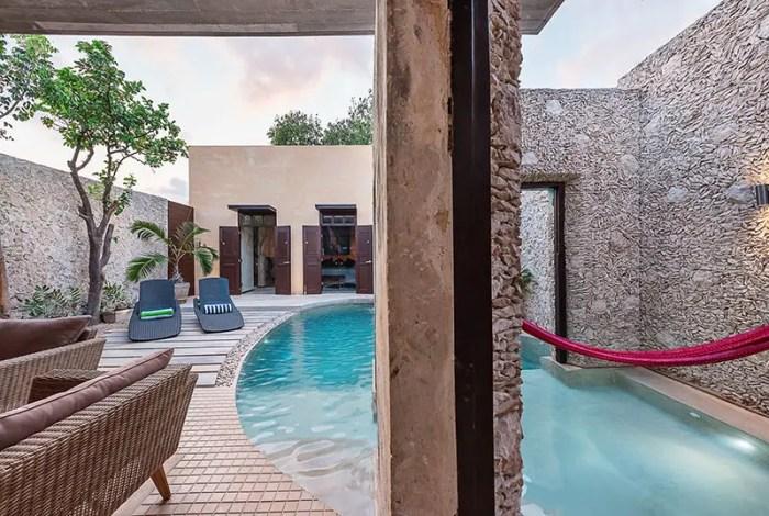 casa xoloti courtyard pool 4