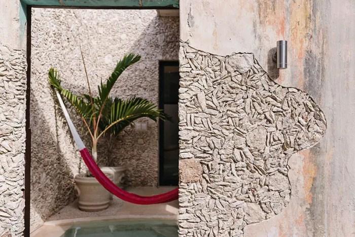 casa xoloti courtyard mexico airbnb