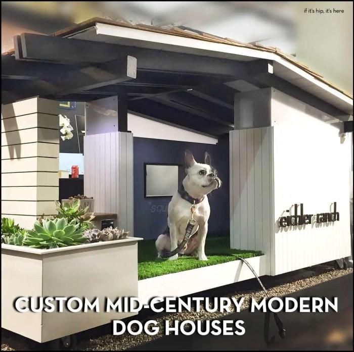 Custom mid-century modern doghouses