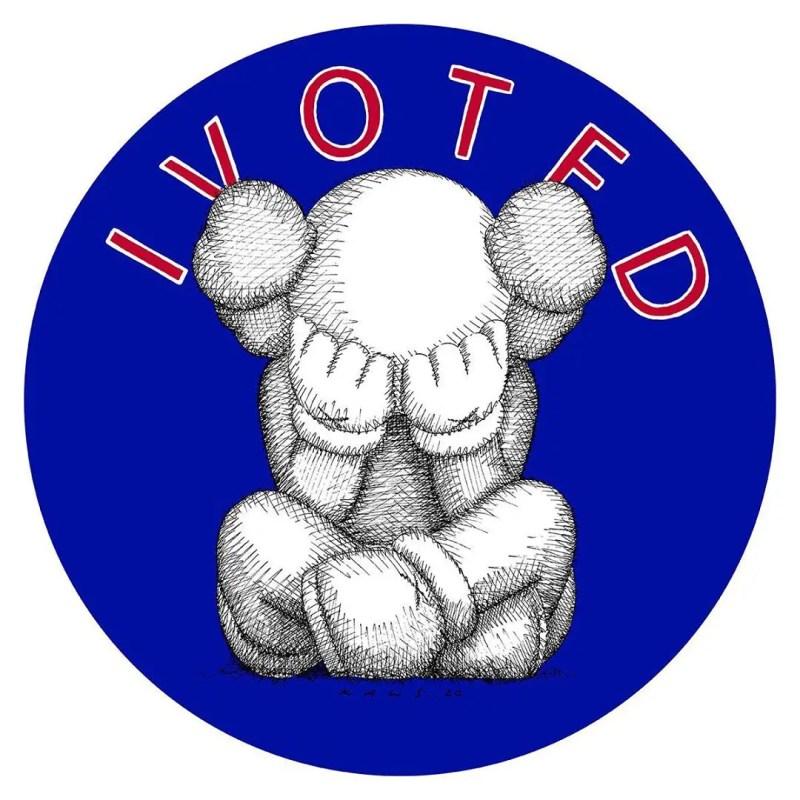 KAWS I Voted sticker