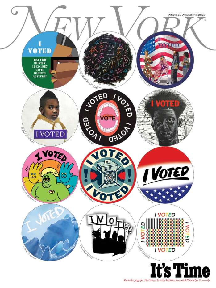 new york magazine collectible I voted stickers cover