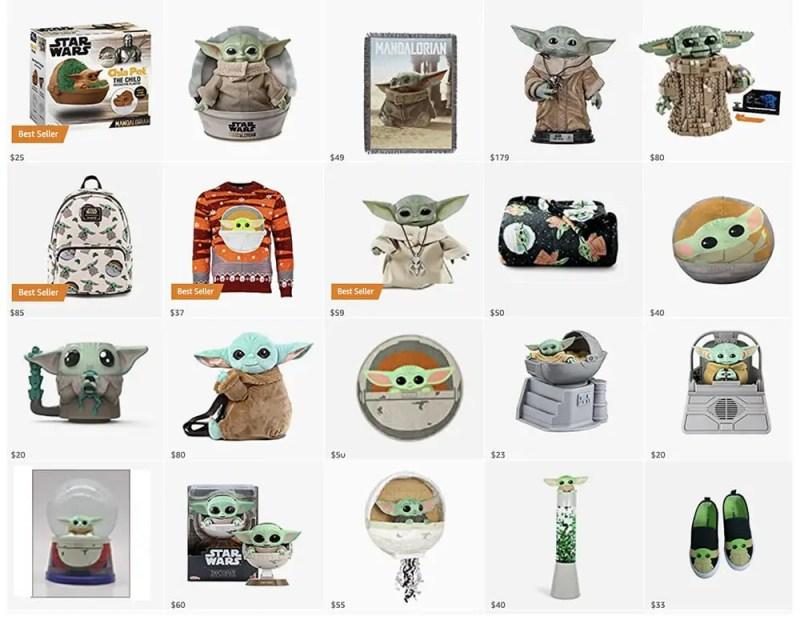 the mandalorian baby yoda merchandise